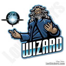 4 Stickers eSport Wizard