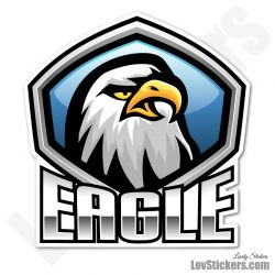 5 Stickers eSport Logo Aigle