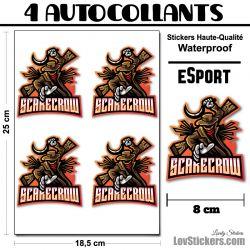 4 Stickers eSport Épouvantail