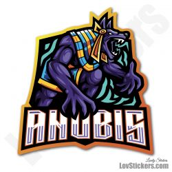4 Stickers eSport Anubis