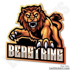 4 Stickers eSport Lion