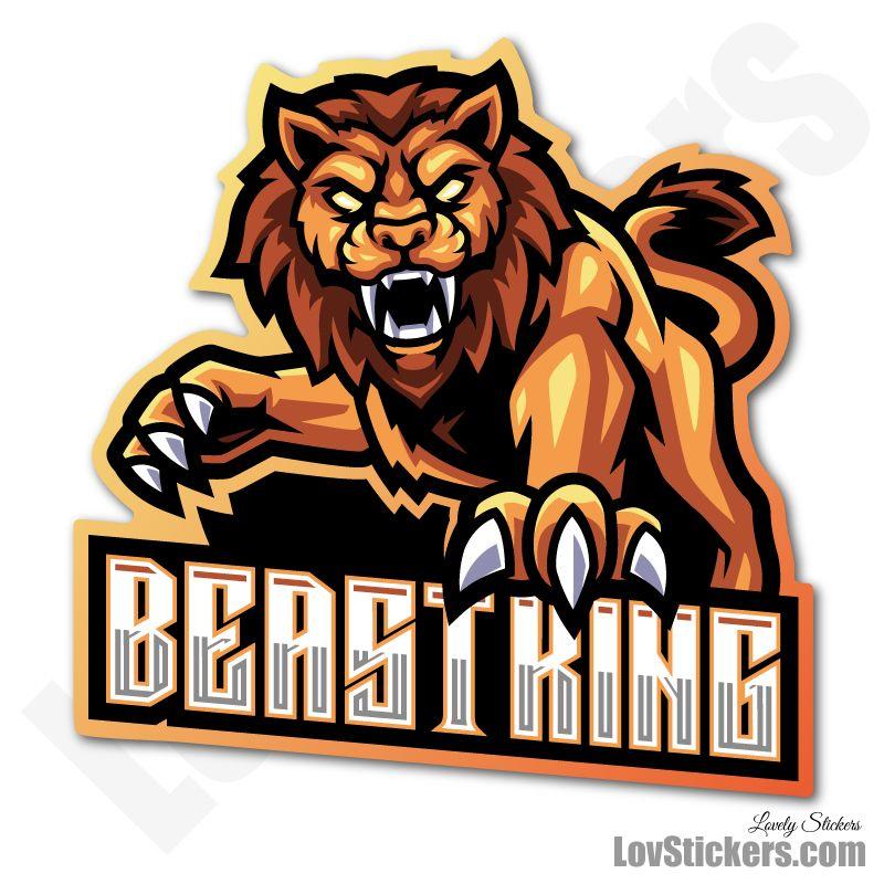 4 Stickers eSport Lion