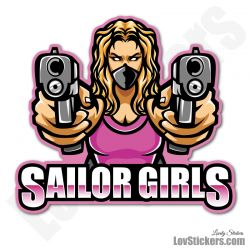 6 Stickers eSport Sailor Girls