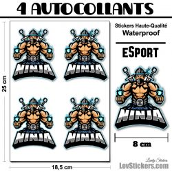 4 Stickers eSport Ninja 02