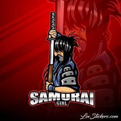 4 Stickers eSport Samourai Girl