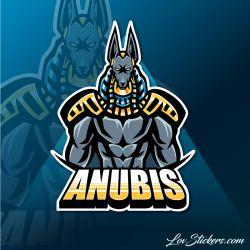4 Stickers eSport Anubis 02