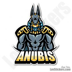 4 Stickers eSport Anubis 02