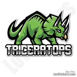 8 Stickers eSport Triceratops
