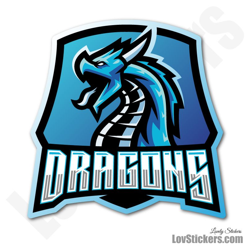 4 Stickers eSport Dragons