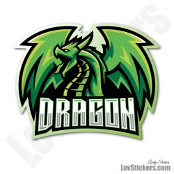6 Stickers eSport Dragon Vert