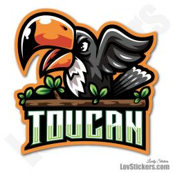 4 Stickers eSport Toucan