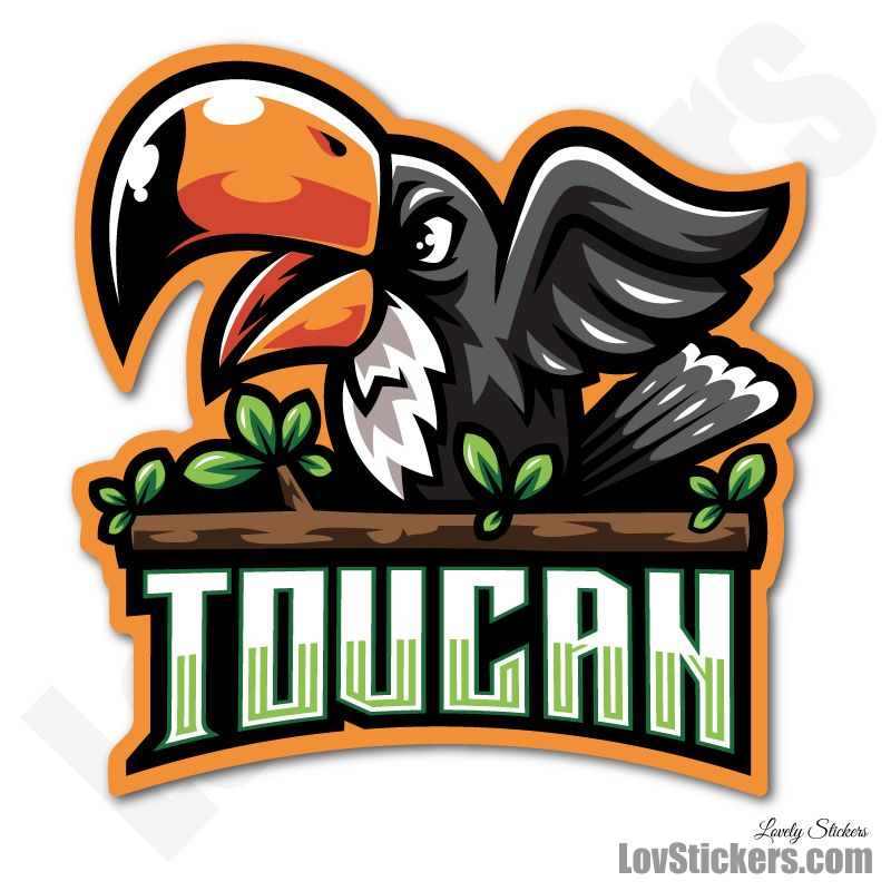 4 Stickers eSport Toucan