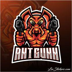 4 Stickers eSport Ant Gunn