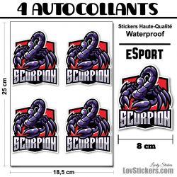 4 Stickers eSport Scorpion