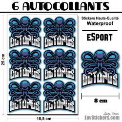 6 Stickers eSport Octopus