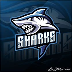 5 Stickers eSport Shark
