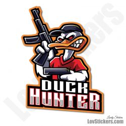 4 Stickers eSport Duck Hunter