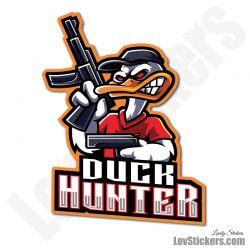 4 Stickers eSport Duck Hunter
