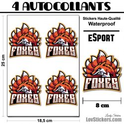 4 Stickers eSport Foxes