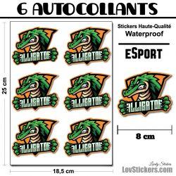6 Stickers eSport Alligator