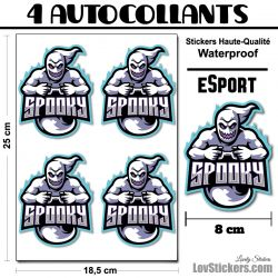 4 Stickers eSport Spooky
