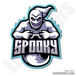 4 Stickers eSport Spooky