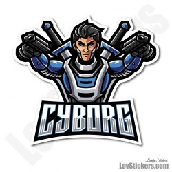 6 Stickers eSport Cyborg