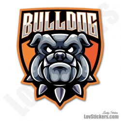 6 Stickers eSport Bulldog