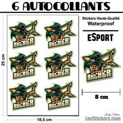 6 Stickers eSport Archer
