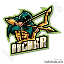 6 Stickers eSport Archer