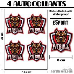 4 Stickers eSport Pitbull