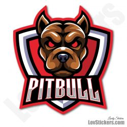 4 Stickers eSport Pitbull