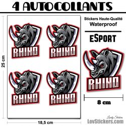 4 Stickers eSport Rhino
