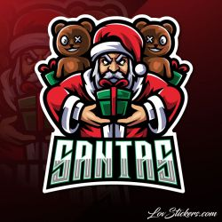 4 Stickers eSport Santas