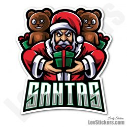 4 Stickers eSport Santas