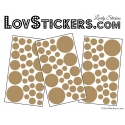 87 Stickers Ronds - Autocollant deco Ronds Pleins
