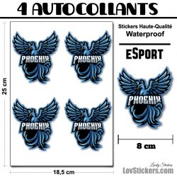 4 Stickers eSport Phoenix