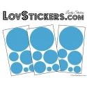 Decoration mur autocollant stickers rond