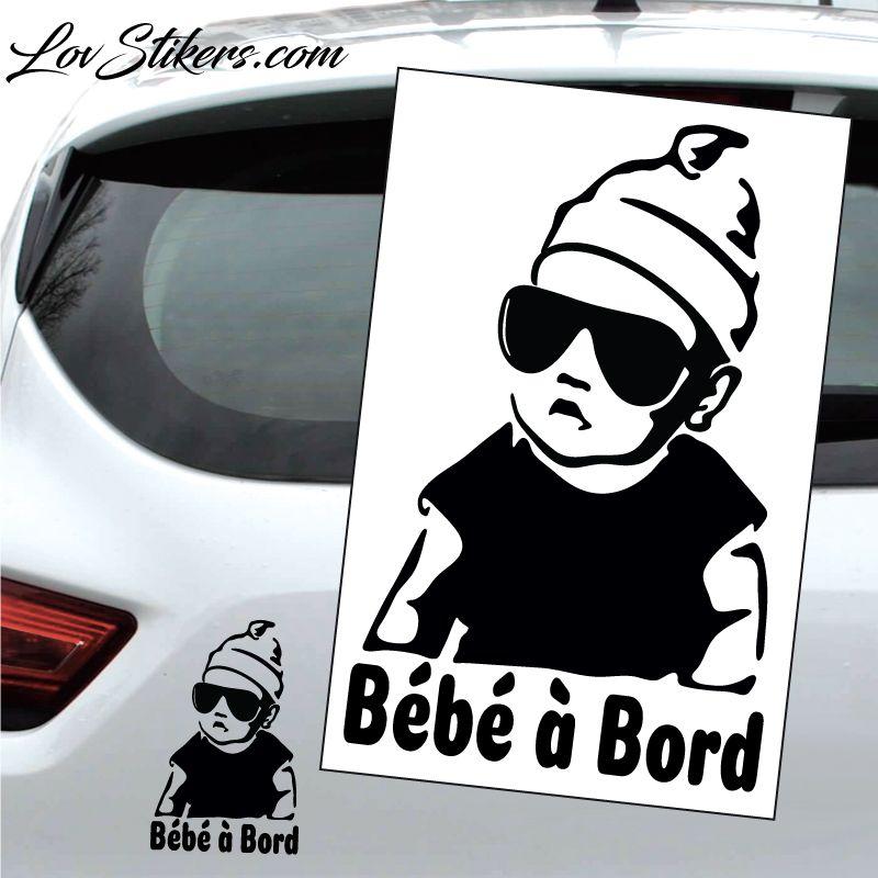 Sticker Bébé à Bord avec lunette de soleil