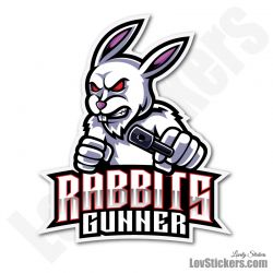 4 Stickers eSport Rabbit
