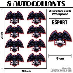 8 Stickers eSport Cruel