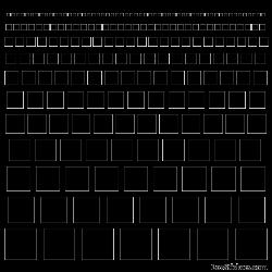 Stickers bandes de carrés