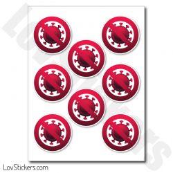 Stickers Stop Virus - Prevention COVID Coronavirus