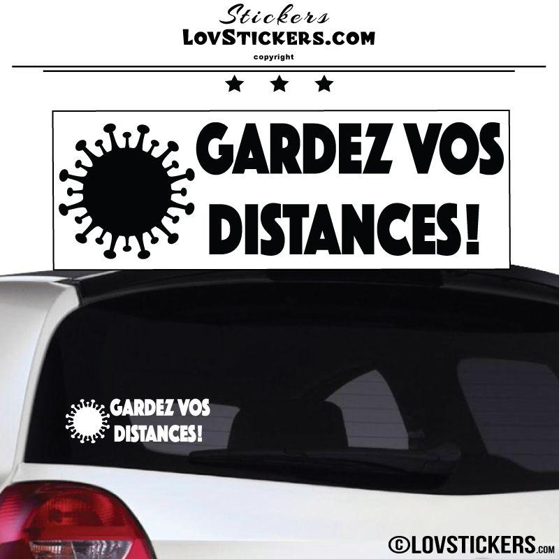 Sticker Gardez vos Distances Covid