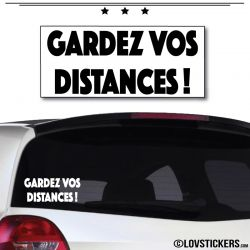 Sticker Gardez vos Distances 20cm