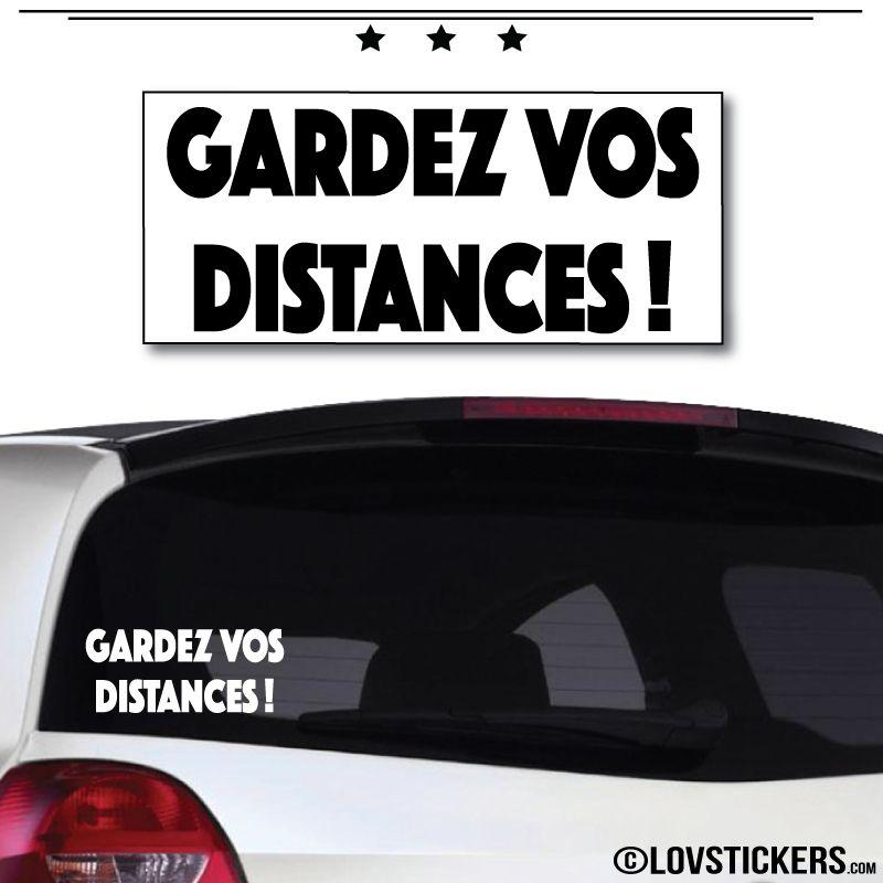Sticker Gardez vos Distances 20cm