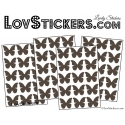 60 Stickers Papillons 3CM - Autocollant decoration