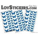 72 Stickers Papillons - Autocollant decoration Papillon Modèle No2