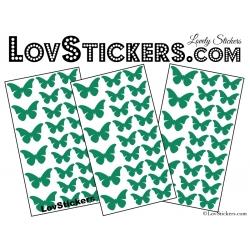 72 Stickers Papillons - Autocollant decoration Papillon Modèle No2