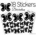 Stickers de décoration intérieur modele papillon design art